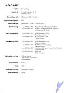 Muster Lebenslauf Als Word Dokument Bsp Lebenslauf