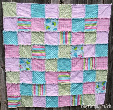 the craft patch a rag quilt a great baby gift
