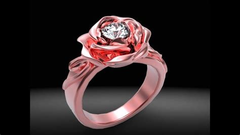 Buy a Custom Red Rose Diamond Engagement Ring, made to