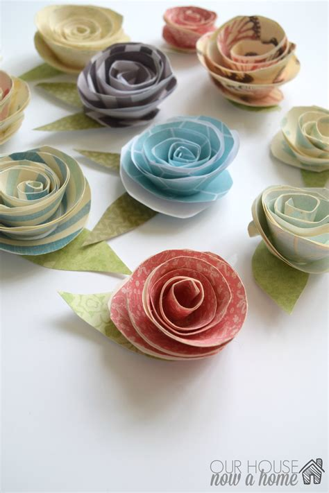 Paper Flowers With - paper flowers tutorial our house now a home