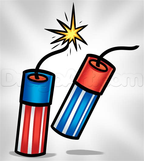 how to draw firecrackers step by step explosive devices