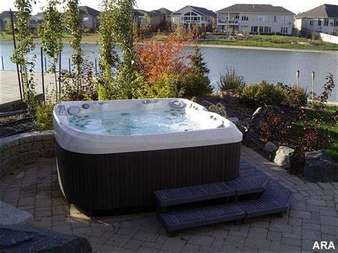 hot tub for backyard backyard landscaping changes blah to aha with hot tubs