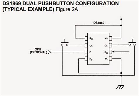 digital resistor ic digital potentiometer circuit using ic ds1869 circuit diagram centre