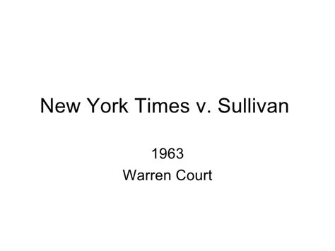 new york times v sullivan the case advertising space was purchased