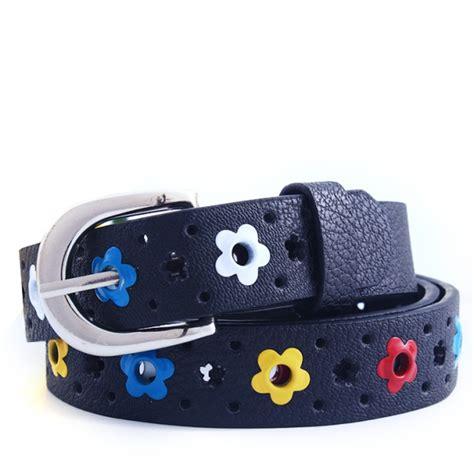toddler belts toddler colorful flower belt buckle faux leather