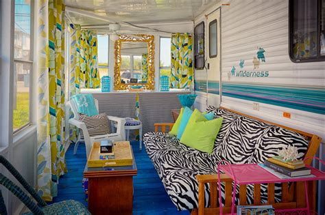 design house decor nj trailer chic strathmere nj eclectic sunroom