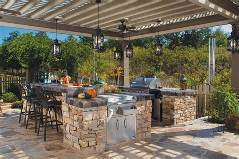 Tropical Outdoor Kitchen Designs Outdoor Kitchen Design And Decorations In Cozy Styles Hupehome