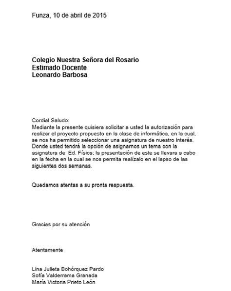 carta de autorizacion acudiente carta de autorizacion abril 2015