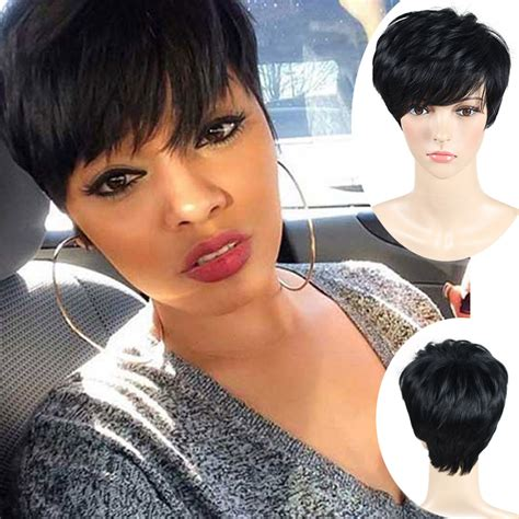 Free Wig Cutting With My New Hair And Trevor Sorbie by 2016 Pixie Cut Wigs For Black Cheap