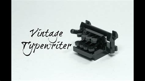 tutorial lego classic lego vintage typewriter moc tutorial youtube