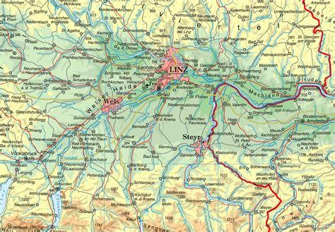 Motorrad Tour Wien Umgebung by Linz Umgebung Landkarte 214 Sterreich Alles 252 Ber