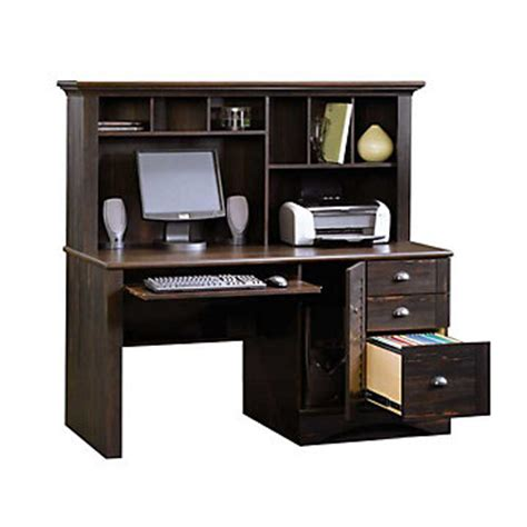 harbor view computer desk with hutch sau 401634 and