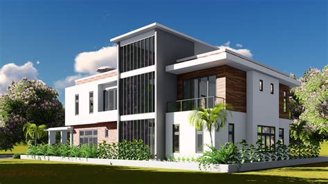 tutorial lumion render sketchup modeling lumion render 2 stories villa design