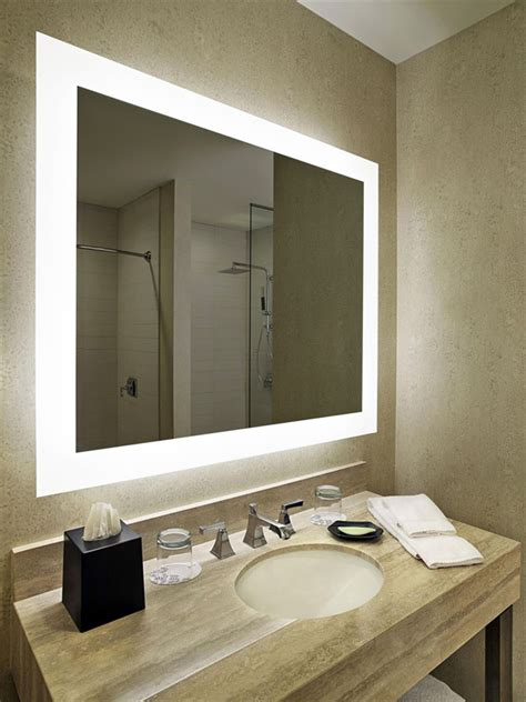 hilton hotel project bathroom mirror   led