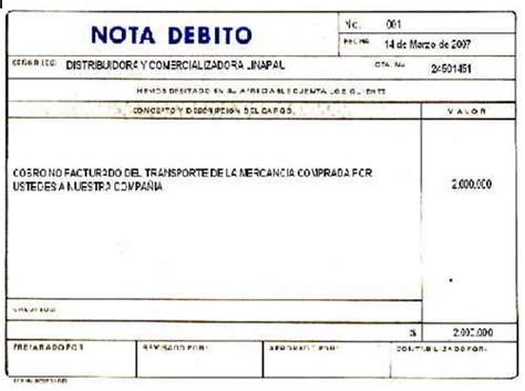 argentina que es una nota credito y debito bancaria soportes contables internos y externos