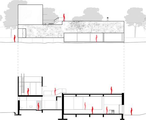Long Narrow House Floor Plans Edaa Pairs Volcanic Stone With Pivoting Glazing At Casa