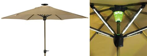 Lighted Patio Umbrella Solar Solar Powered Lighted Patio Umbrella The Green