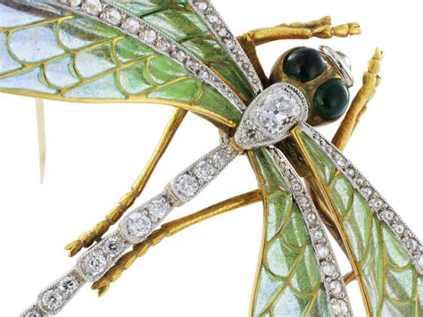 Style Dragonfly L by Antique Style Plique A Jour Cut Gold Dragonfly Pin