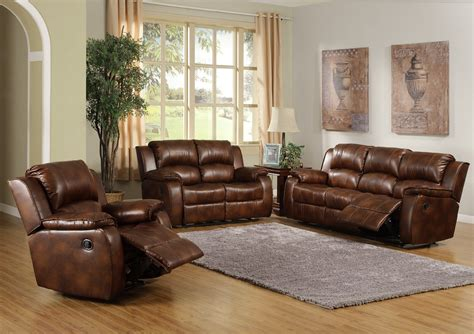 Leather Sofas For Living Room by Brown Leather Recliner Sofa Set Leather Sofa Recliner And