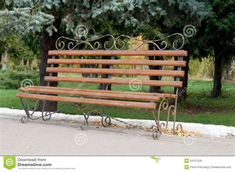 Park Bench Seat Cushions Park Bench Royalty Free Stock Images Image 34707229