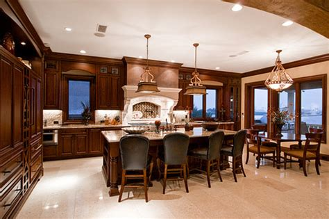 Luxury Kitchen And Dining Room Design With Elegant Kitchen And Dining Room Lighting