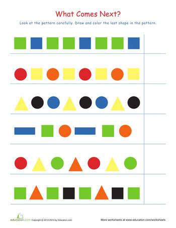 pattern game kindergarten interactive recognizing patterns 2 worksheets math and school