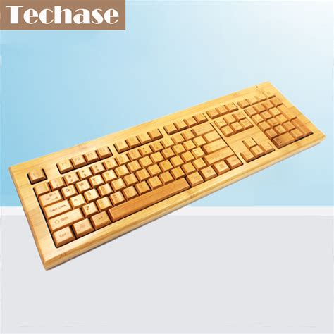 Pensiljoyko Mechanical Mekanik Pc techase wireless mechanical keyboard teclado mecanico bamboo design 2 4ghz gaming keyboard