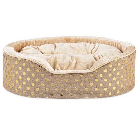 pet beds harmony orthopedic cuddler dog bed in gold blast petco