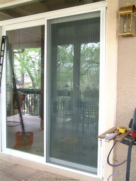 Glass Door With Screen Plisse Sliding Glass Retractable Door Screens Retractable Screen Door By Screen Solutions
