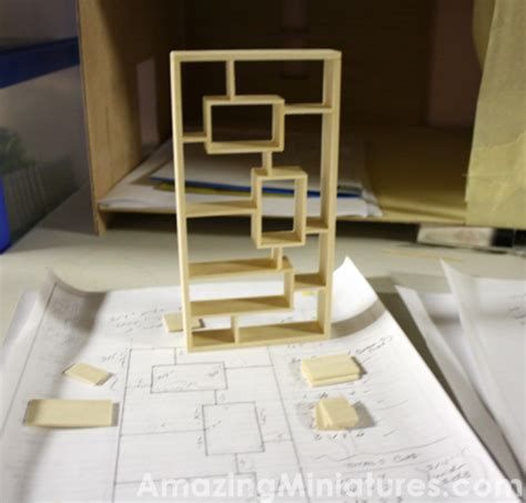 making a doll house making a modern dollhouse bookcase