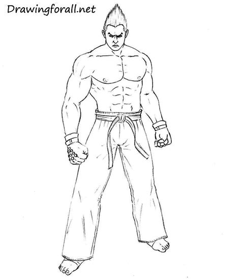 Tekken 7 Coloring Pages by Tekken Jin Free Colouring Pages