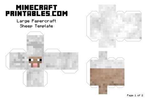 Papercraft Sheep - 7 best images of big minecraft printables minecraft