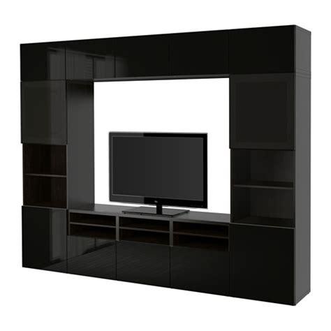 Besta Price List Best 197 Tv Storage Combination Glass Doors Black Brown