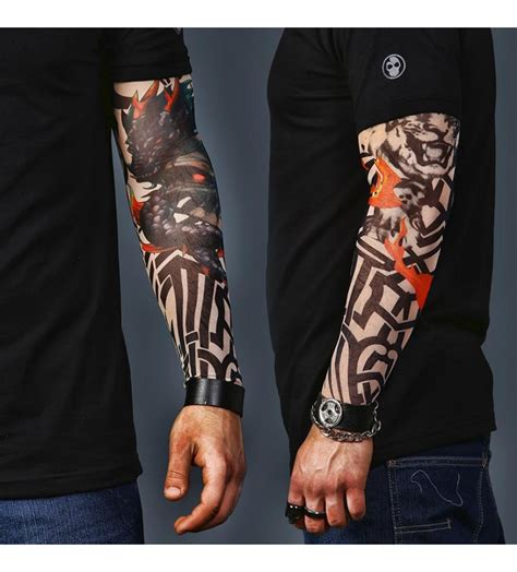 tiger sleeve tattoo a set of 2 sleeves tiger and skull
