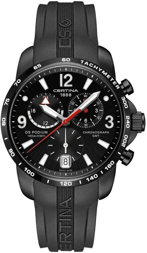 Certina Ds Podium Big Size Chrono C0016472205700 certina ds podium big size chrono gmt quartz d c001 639 17 057 00