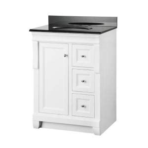 White Vanity With Granite Top by Foremost Naples 25 In X 19 In Vanity In White And