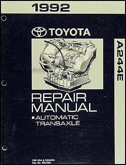 vehicle repair manual 1992 toyota paseo free book repair manuals 1992 toyota paseo automatic transmission repair shop manual original