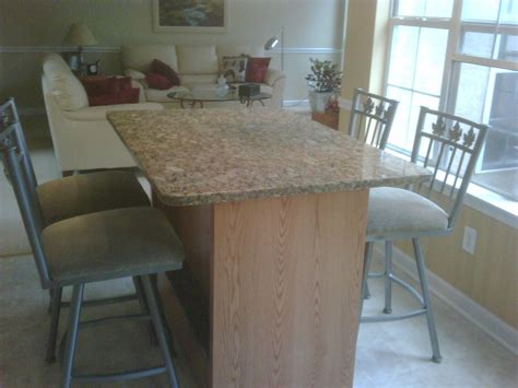 buy a custom made kitchen table oak and granite made to