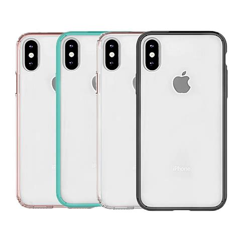 iphone xs xr case hybrid soft tpu bumper clear pc  cover case  iphone xs max cell