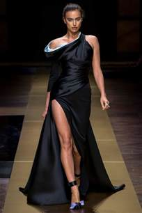 Wardrobe In Fashion Show by Irina Shayk Walks The Runway At Atelier Versace Fashion
