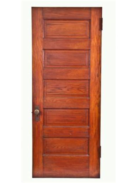 5 Panel Oak Interior Doors Early 20th Century Varnished Oak Wood Raised Five Panel Interior Passage Doors