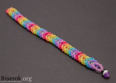 Bead Woven Bracelet cool creativity diy rainbow color woven beaded bracelet