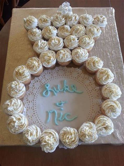 Bridal Shower Cupcake Ideas by Cupcakes In The Shape Of An Engagement Ring