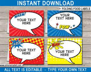Templates For Food Labels by Food Labels Place Cards Decorations