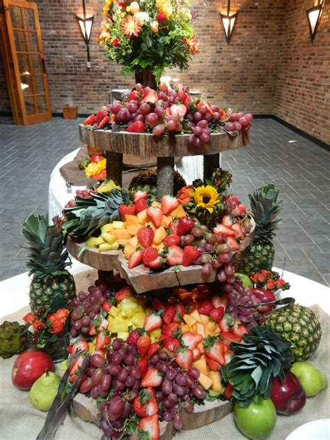 fruit table for wedding best 25 fruit display wedding ideas on