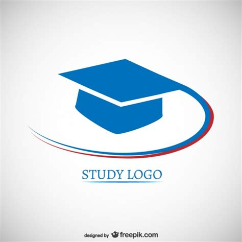 free logo design for educational institutes study logo with mortarboard vector free download