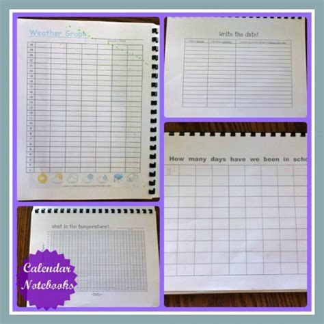 Calendar Notebook Homeschool Planning Calendar Notebooks Activities