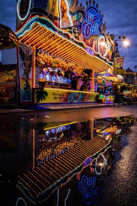 german photography fair street light lights long