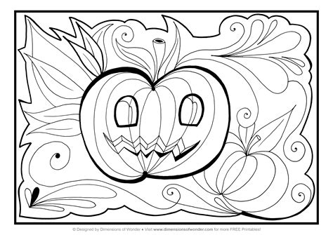 printable halloween coloring pages pdf free coloring pages of halloween free printables