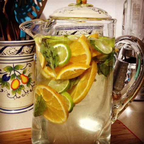 Lemon Orange Detox Water by Infuse Water Detox Cleanse Lemon Orange Mint Basil